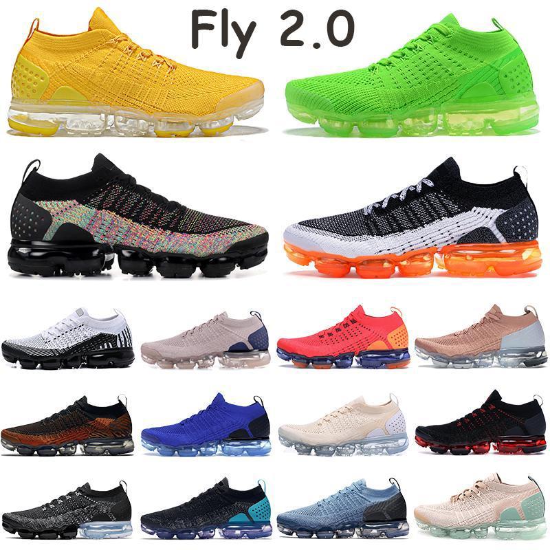يطير 2.0 رجل الاحذية الثلاثي الأسود متعدد الألوان الأصفر فولت مانجو النمر المتسابق العمل الأزرق الأبيض النقي البلاتين النساء أحذية رياضية