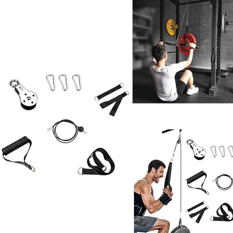Poulie de câble, système de poulie TRICEP pour l'entraînement de la force du bras, pièce jointe de câble de poulie de bricolage, pour la salle de gym domestique