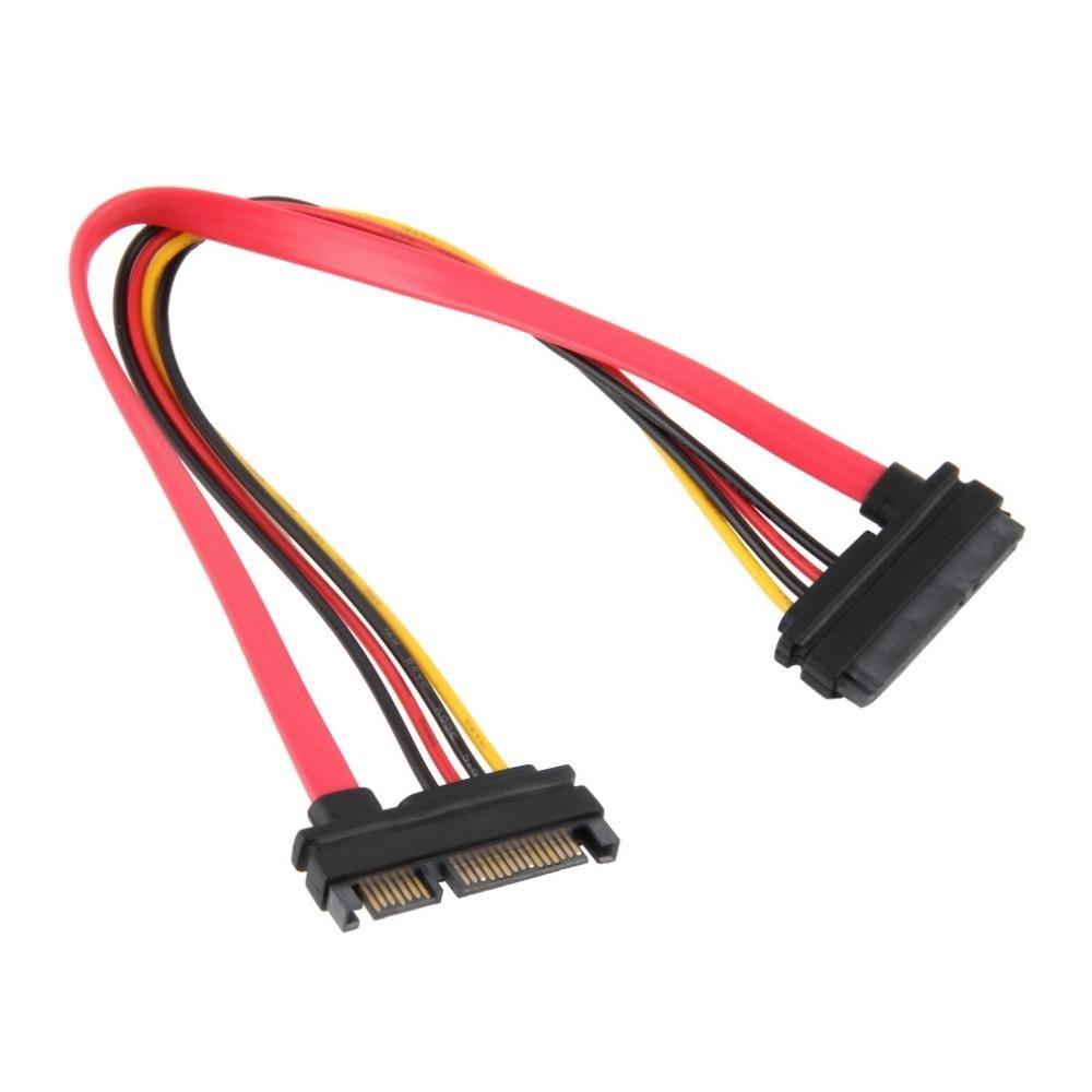 2020 En İyi Kalite 7 + 15 Pin Seri SATA Veri Güç Combo HDD Uzatma Kablosu Konnektör Erkek Kadın
