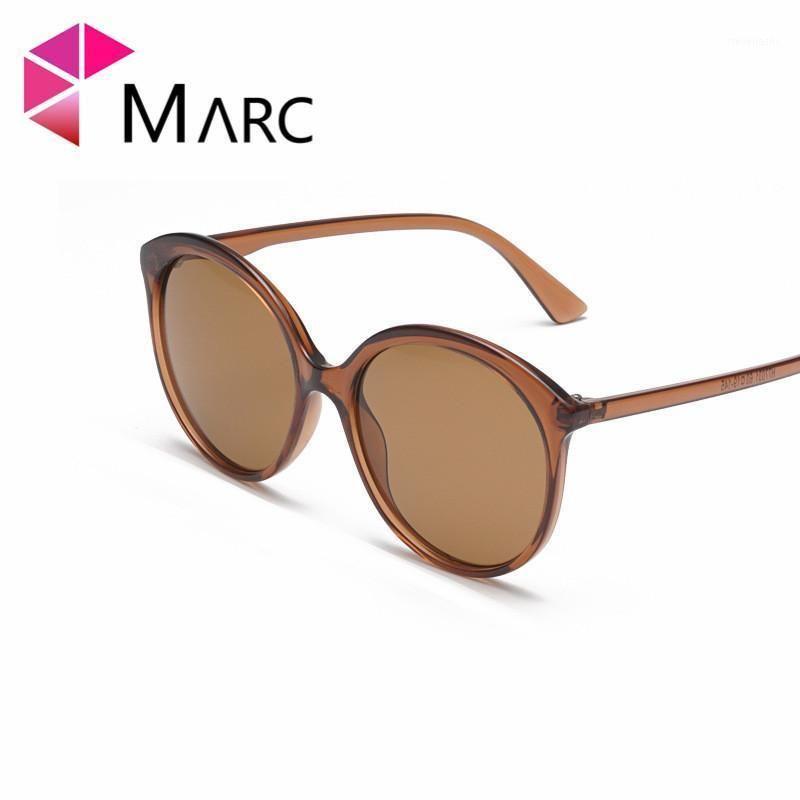 Sonnenbrille Marc 100% UV400 Frauen Männer 2021 Marke Transparent Eyewear Shield Wrap Design Mode Trendy Gafas Oculos Resin1