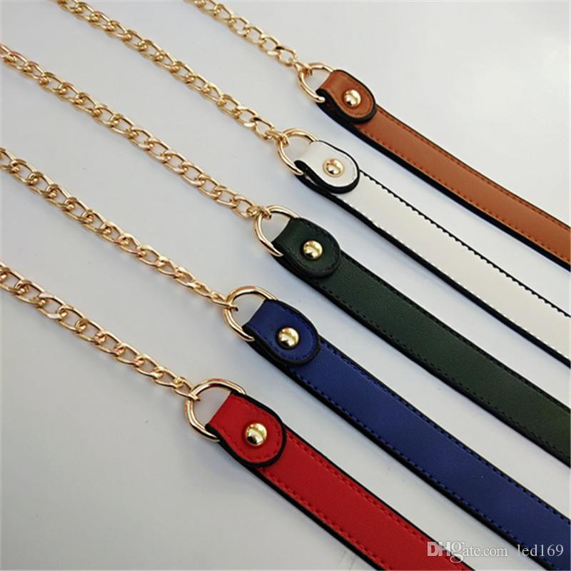 Cinturini in pelle di cuoio in pelle PU a catena da 120 cm in pelle di ricambio per borse per borse fai da te Maniglie per spallacci Accessori Accessori Gestione