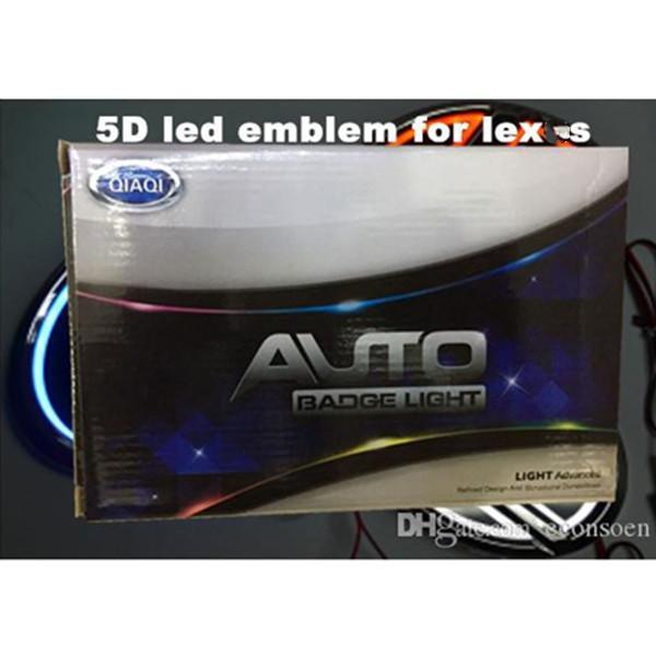 ECONSOEN 5D voiture LED emblème voiture LED badge LED symboles Symboles Logo Feu arrière Blanc Couleur bleu rouge Forlex * S