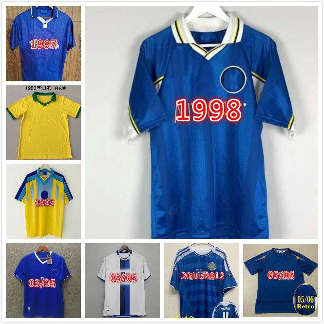 Torres Mata Lampard 2011 2012 Retro Jerseys de fútbol Vintage Terry Football Shirts Classic Blue Home Camiseta Drogba Maillo