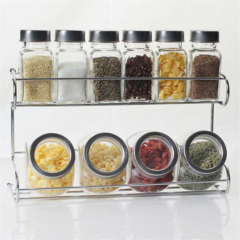 Condimentos de Cocina SOPORTE PARA BOTELLAS TARROS DE ESPEANTE ESTANTE HWF3457