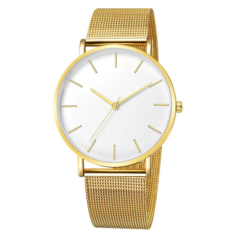 Montre Femme современная мода черные кварцевые часы женщины сетки из нержавеющей стали браслет высокого качества случайные наручные часы для женщины