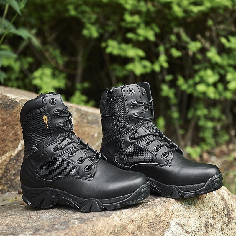 Sapatos de montanhismo de alta ganga Delta Combat Forças Especiais Forças De Couro Deserto Tático Botas