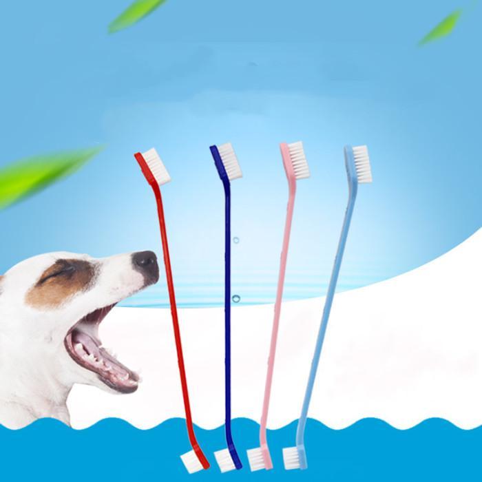Fournitures pour animaux de compagnie Brosse à dents Cat Puppy Chiot Dentaire Dents Dents Brosse à dents Dents Dents Fournitures de santé Chiens Dents Less Outils de nettoyage IIF54