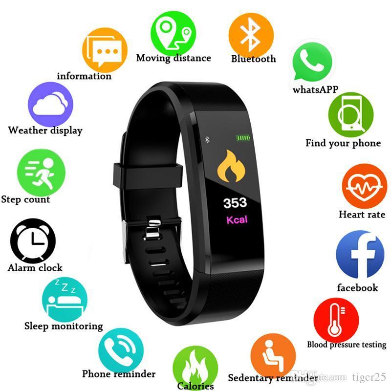 Smart Watch Homens Mulheres Smart Pulseira Coração Frequência Monitor de São Paulo Fitness Tracker Smartwatch Sport Watch for iOS Android