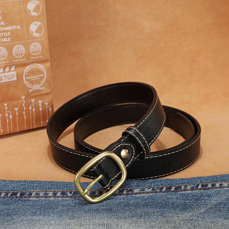 أحزمة LandV TOP1 الكلاسيكية حزام تجارة الجملة جودة عالية النساء أحزمة معدنية مشبك معدني لحزام من الجلد لرجل إمرأة العرض هو 3.8CM