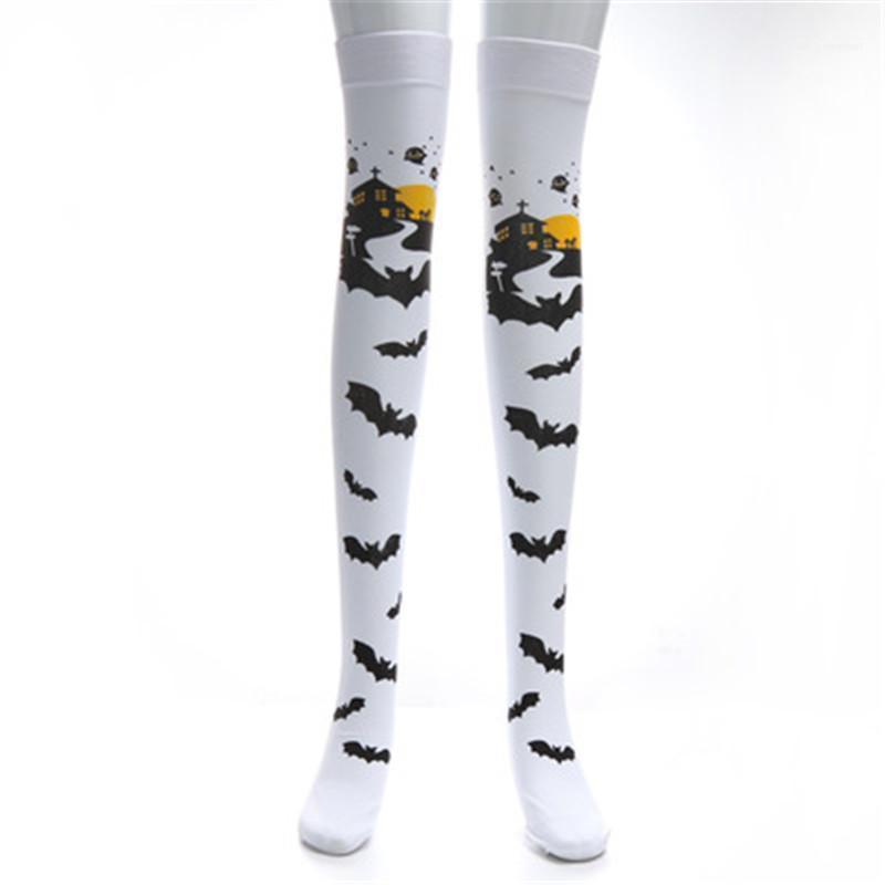 Designer Trend Female Stockings Ladies Halloween Stockings Fashion Masquerade Festival Performance Costume Props Women Printing Socks