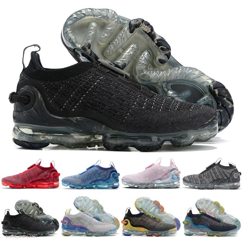 VaporMax 2020 FK Envío gratis Malla multicolor voltio Oreo Zapatos casuales lunar zapatos casuales hombres mujer entrenador deporte EUR 36-45 C13