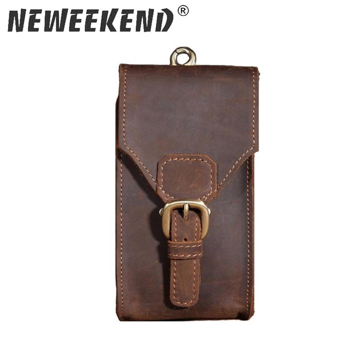 New Men Genuine Crazy Horse Pelle Vita Fanny Bag Borsa Hip Bum Bum Bort Loops Pack Pocket Pocket Portafoglio borsa per uomo 2095 201130