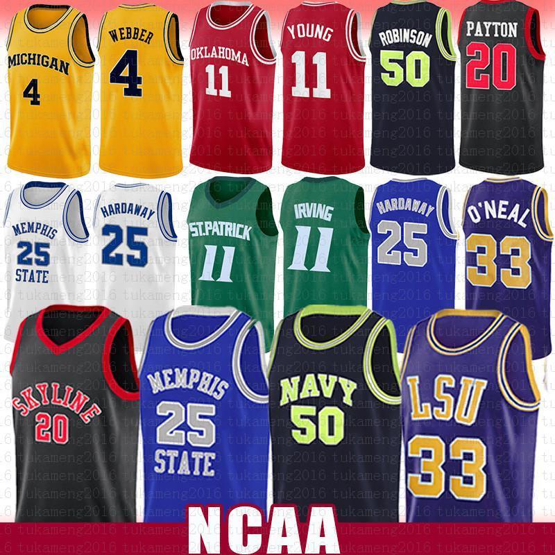 Shaquille 32 O Neal David 50 Robinson NCAA Jersey Basketball Anferrnee 25 Hardaway Chris 4 Webber Gary 20 Payton Kyrie Trae 11 Jeune Irving