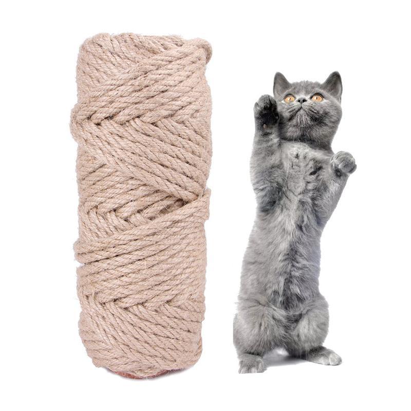 سيسال حبل القط شجرة diy خدش آخر لعبة القط تسلق الإطار استبدال حبل مكتب الساقين ملزمة حبل ل القط شحذ مخلب jk2012xb