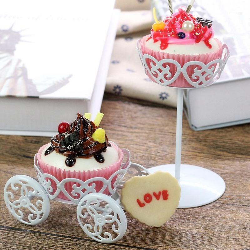 Другие праздничные партии поставки для маффинов мороженое кремовое тесто для выпечки металлические колесо кекс стенд торт дисплей свадебный день рождения украшения1
