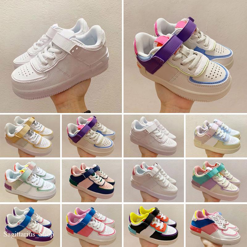 Chaussures pour enfants Basse 1S Femmes Blue Moon rouge Bred Bred Black Toe Court Purple jeu Royal Unc Shadow Sneakers
