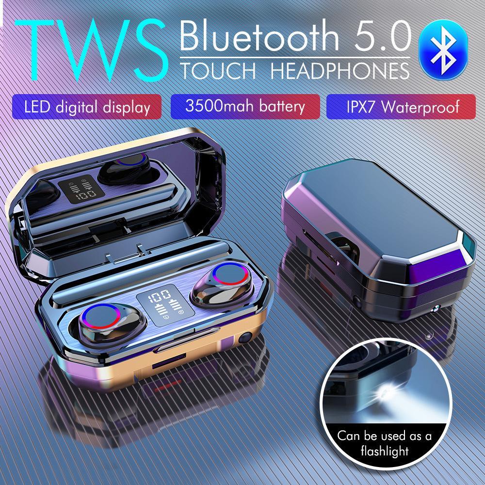 Neue M12 Wireless Bluetooth 5.0 Kopfhörer Tws Mini In-Ear-Sport-Laufendes Headset mit MIC Wasserdicht für Smartphone