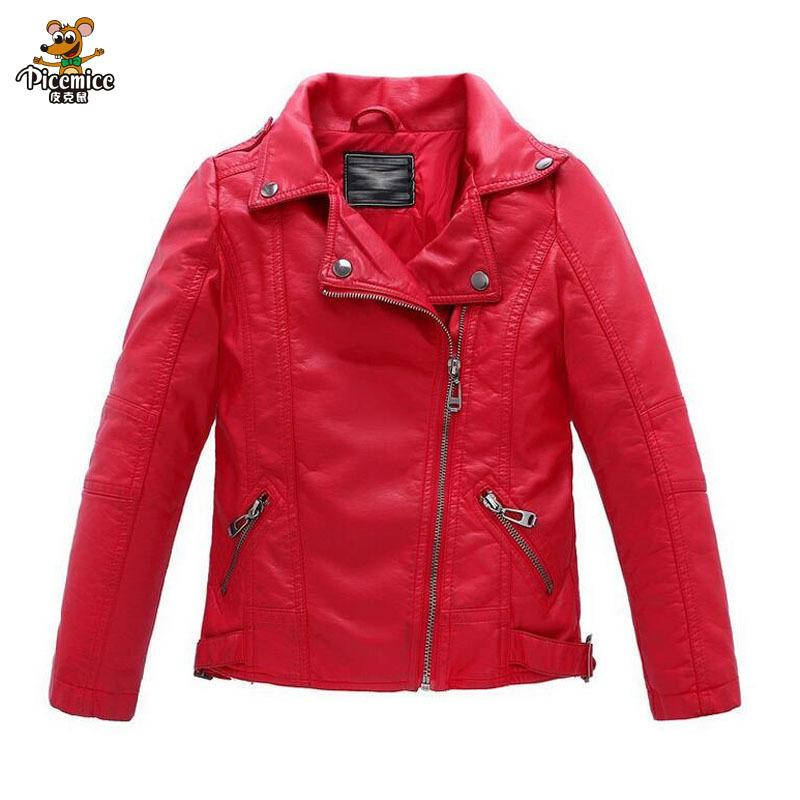 LAUSONS Boys Leather Jacket Quilted Motorcycle Biker Coats Outerwear