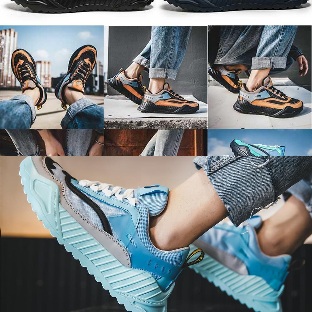 Hommes Livraison Gratuite Livraison Chaussures de course Exirale Mode Femme Sneakers Bleu Orange Promenade Randonnée Camping Léger Poids Chaussures décontractées en plein air