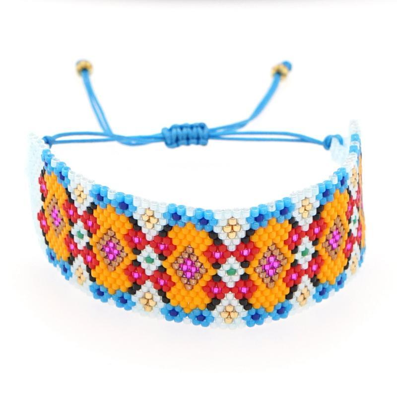 GO2BOHO BOHO Pulsera para Mujeres Amigos Regalos de joyería 2021 Miyuki Bead Bohemian Designer Bracelets Mano Joyería Tejido Mayor
