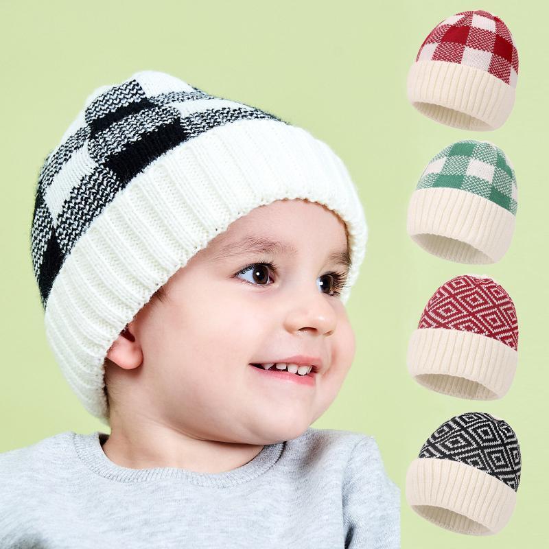 Chapeau de laine de bébé garçons thermiques et filles tricoté enfants chapeau chapeau chapeau chapeau de chapeau de chapeau de laine mignon pom balle casquette casquette