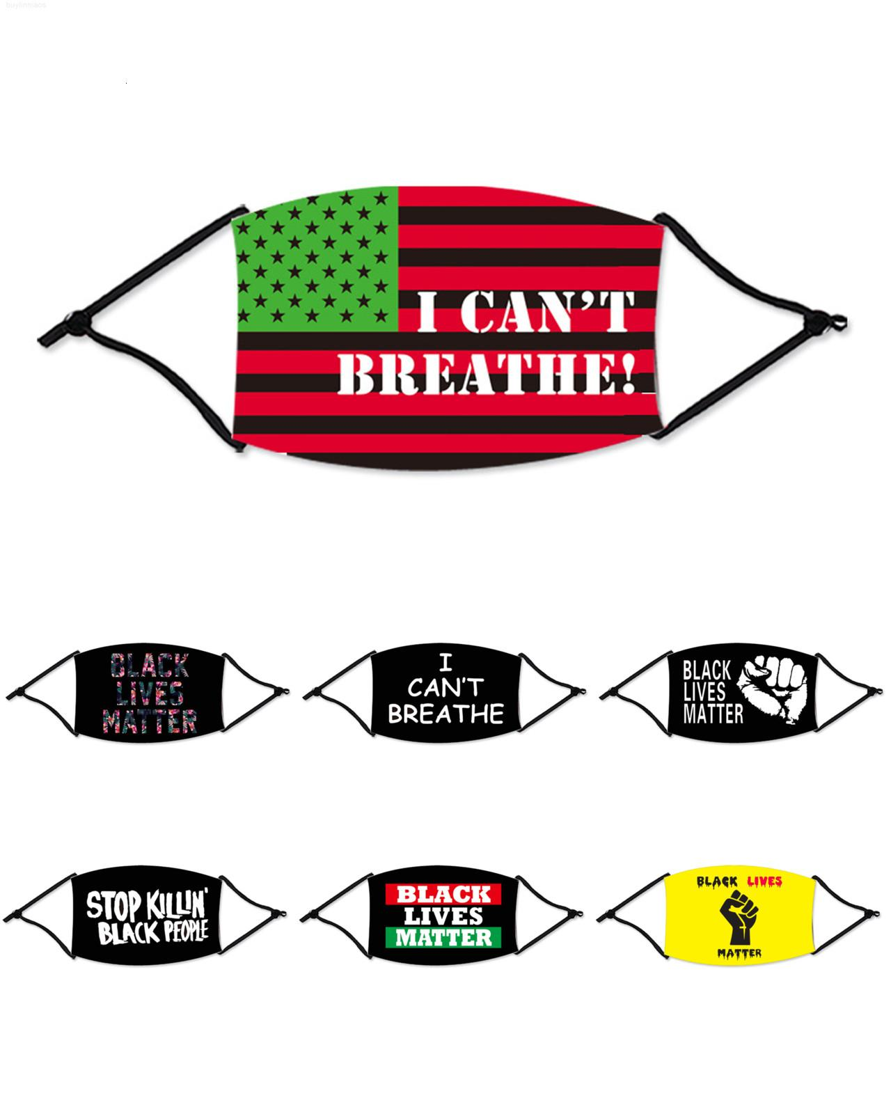 DHL In Stock I Shipping Washable Cotton For Black Lives Matter Masks Fashion Designer Breathe Face Mask Adults Cant Bxwxf