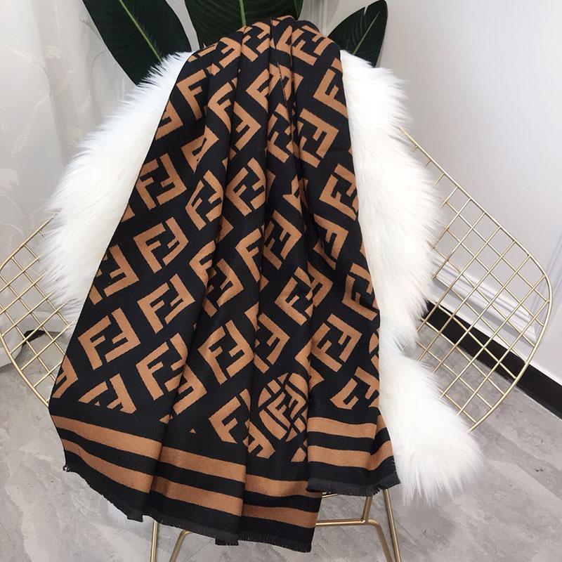 Sonbahar ve kış moda bayanlar taklit kaşmir çift f harfi uzun bölüm sıcak ve kalın tüm maç şal pelerin çift kullanım bir boyut