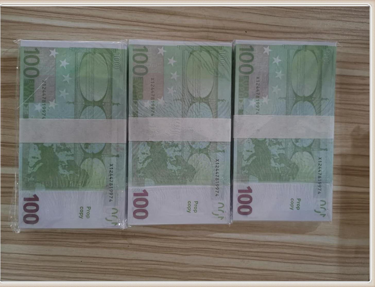 Новые PROP Money Euro 100 Complefect Евро Волшебные реквизиты Бумага Faux Заготовка Детский Подарок Игрушечный билет Le100-42
