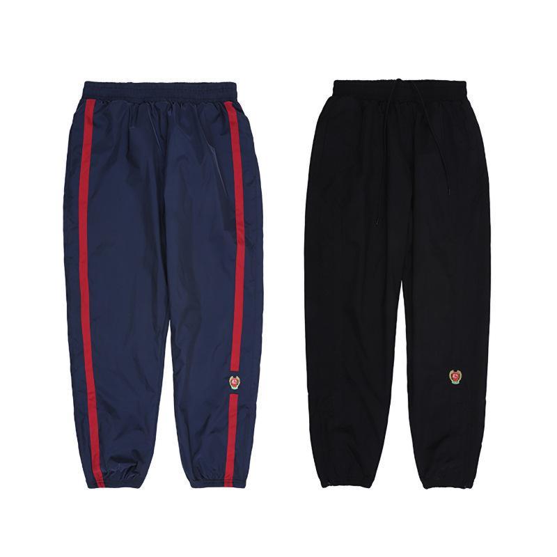 Abbigliamento da uomo Nagri Season5Calabasas Shield Scudo Pantaloni sportivi tessuti ricamati di Kanye