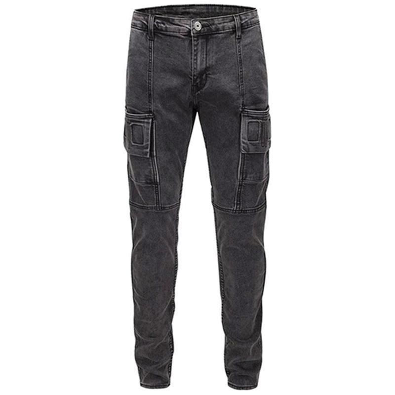 Motocicleta Múltiples bolsillos Deimn Pantalones Casual Slim Pantalones Hip Hop Streetwear Jeans 2020 Moda Sweetpants Joggers Hombres