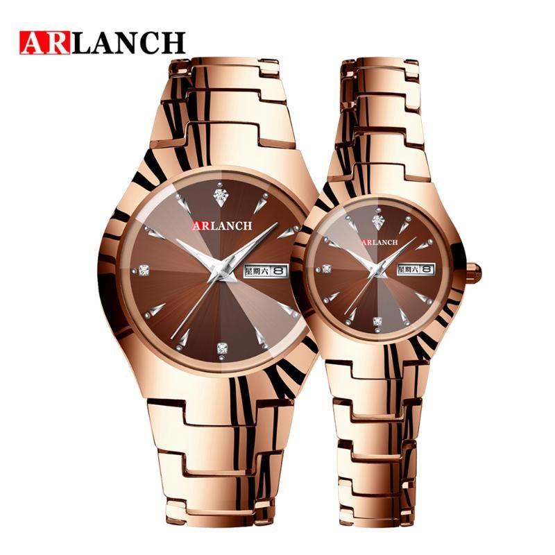 Paare Handgelenk Unisex Paar Luxus-Liebhaber Uhren wasserdicht Uhr und beständigen Quarz-Kalender-Kleid-Frauen-Mann-Uhr-Kratzer
