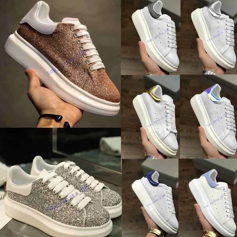 3A sapatos treinadores reflexivo 3m branco plataforma de couro sneakers mulheres festa casual sapatos casuais sapatos de casamento camurça esportes