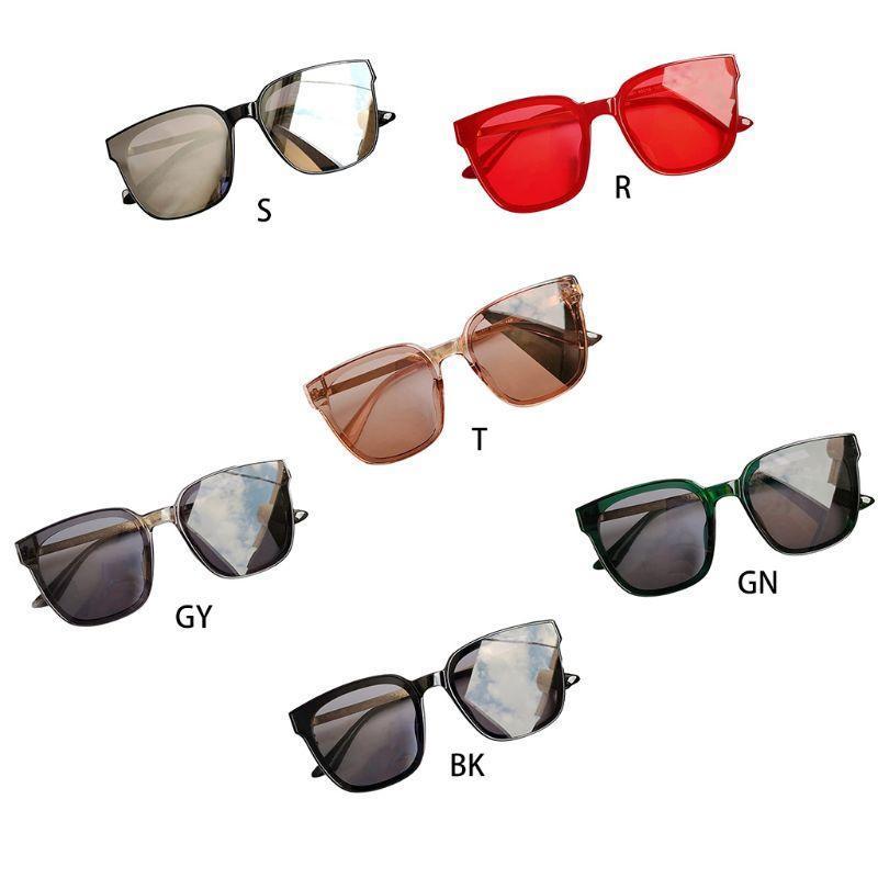 Sun Square Rahmen Große Frauen D08E Wild Sonnenbrille Retro Vintage Gläser Männer Erjdi