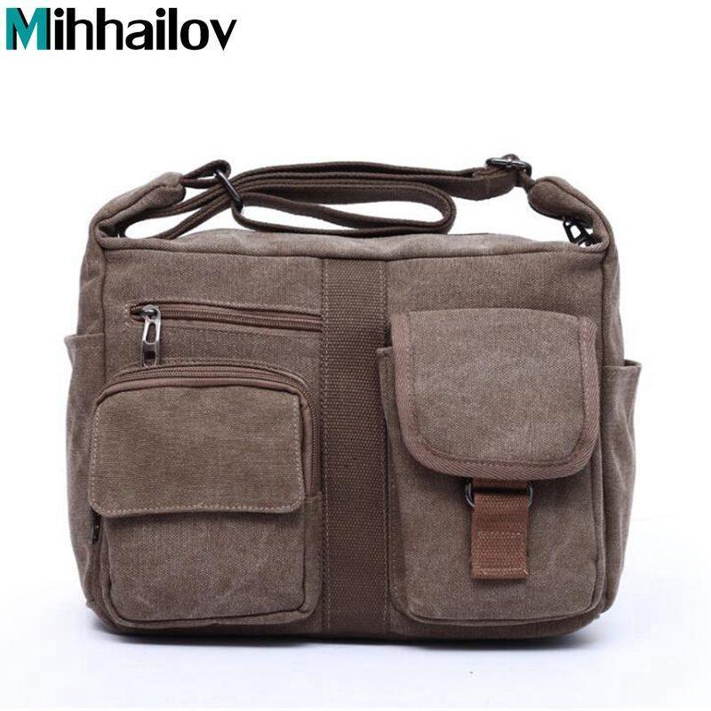Tasche Messenger Leinwand 2020 Handtasche Schulter schräg Satchel Taschen Männer Männer Tasche Neue XS-227 QKVHL