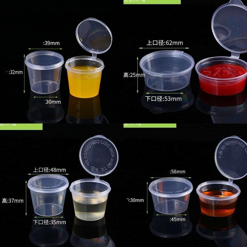 Organizzatori trasparenti Plastica Subpackage Casi Cucina congiunta monouso Esterni per nuove salsa da cucina Sapore fibbia scatole 76ye k2