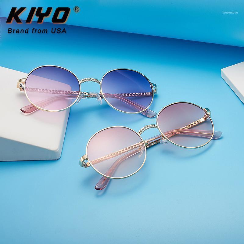 Kiyo Brand 2020 Nuove donne Occhiali da sole rotondi Metallo Moda Occhiali da sole di alta qualità UV400 Driving Eyewear 89551