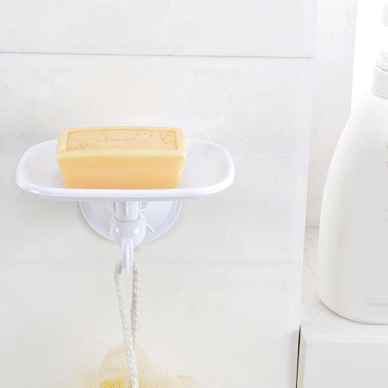 Aspiration durable Porte-savon en plastique Porte-savon Plancher Panier Plateau Douche de salle de bain