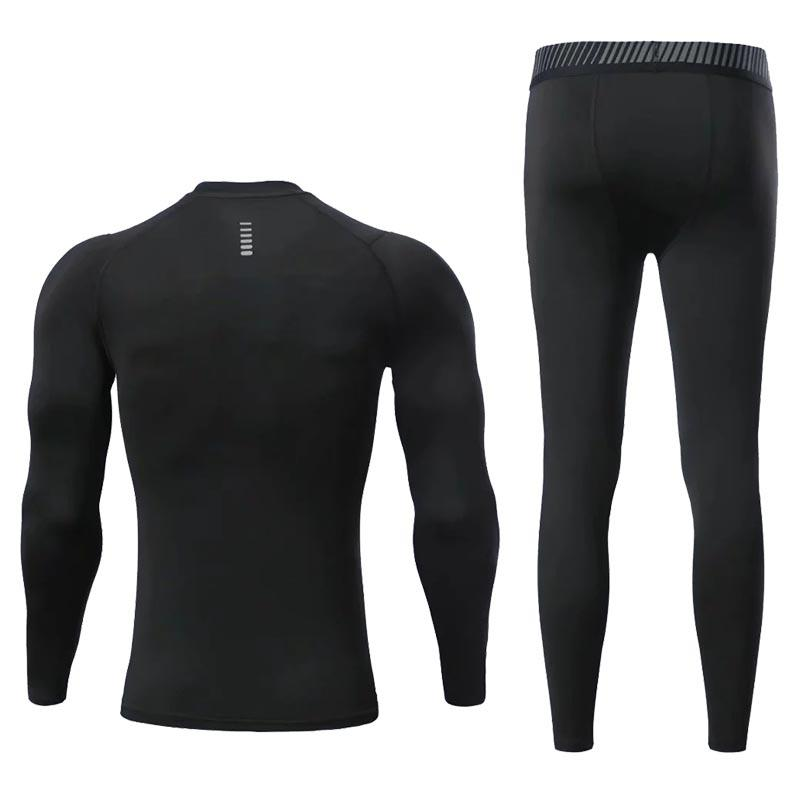 Fitnessstudio Kompression Sport Trainingsanzug Fitness enge Sportbekleidung Running Set T Shirts Leggings Männer # S Sportswear Gym Herren Kleidung Sport Sport