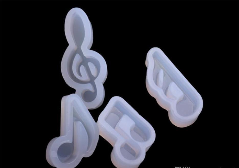 DHL GRATUIT Réutilisable Remarque musicale Silf Moules de chocolat DIY Faire de la moule Glace Cube Plateaux Candies Faire des fournitures pour Candy Hard SQCSPJP