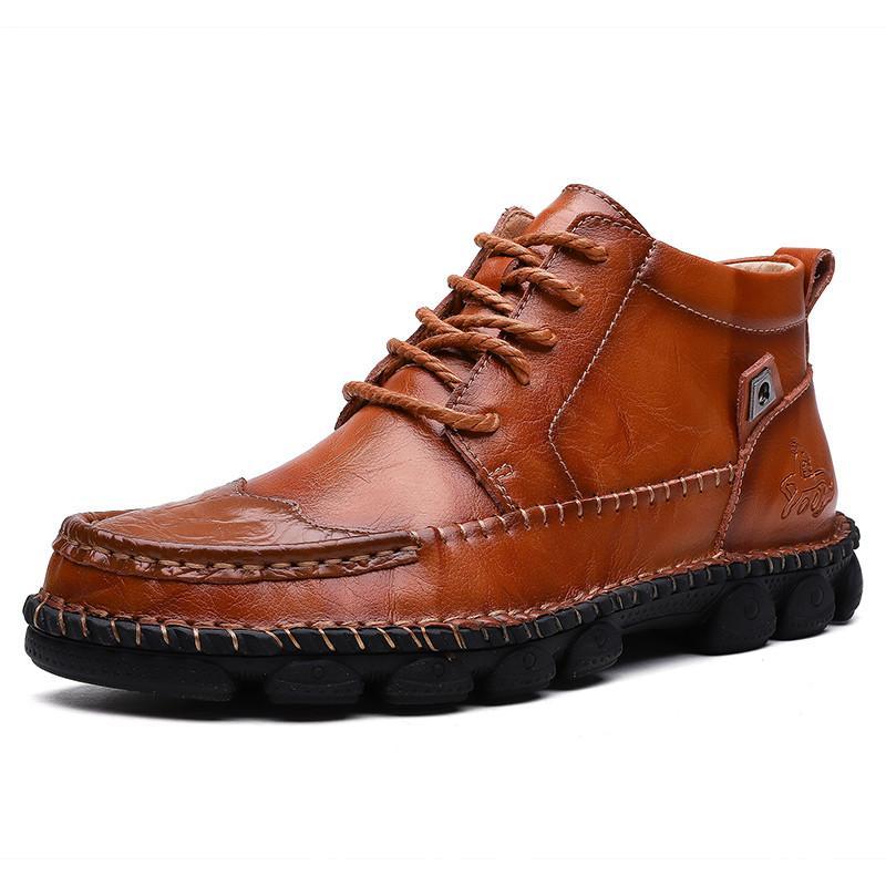 DM45 2020 Calçado de homem New alta qualidade genuína couro calçados casuais impermeáveis preguiçosos Sapatos de trabalho de couro de vaca Plus Size 38-48