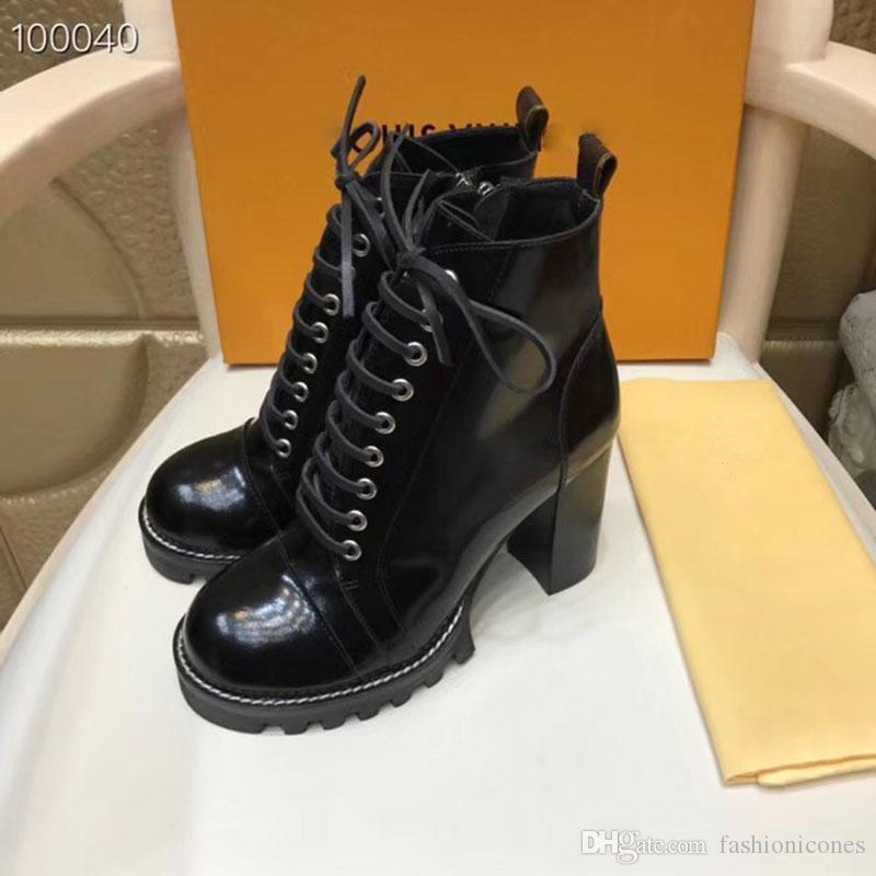 2020 Yeni Lüks Tasarımcı Kadın Çizmeler Bayanlar Ayak Bileği Çizmeler Süperstar Moda Kadınlar Sonbahar Kış Yüksek Topuk Kısa Çizmeleri Büyük Boy 42