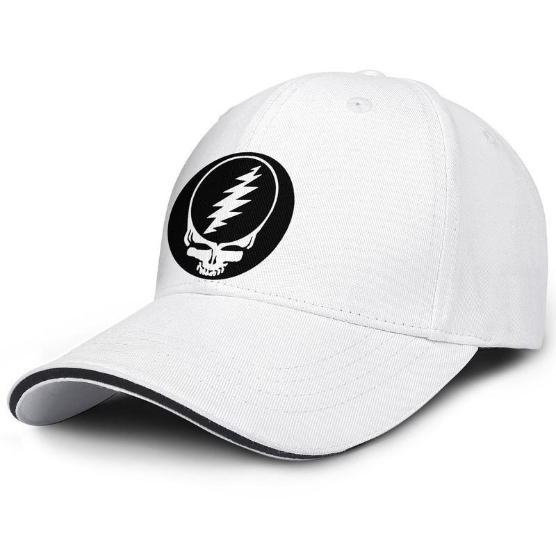 Fashion Baseball Cap grateful dead skull logo black Adjustable Ball Hat Cool Personalized Trucker Cricket white rainbow