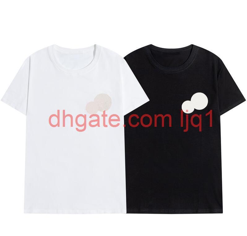 2020 Yeni Luxur Nakış Tshirt Moda Kişiselleştirilmiş Erkekler Ve Kadınlar Tasarım T-Shirt Kadın Tişörtleri Yüksek Kalite Siyah ve Beyaz100% Cott