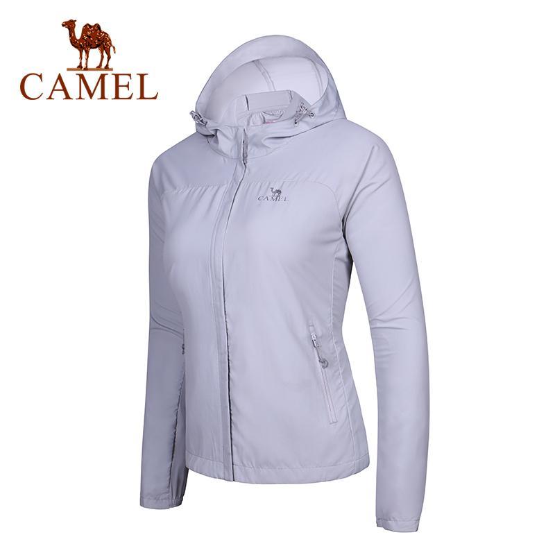 Cammello 2019 Giacca invernale Couple UV Coppia di protezione solare Abbigliamento Cappotto Ultrathin Pocket Zipper Escursionismo Camping Sport Estate Estate Q1201
