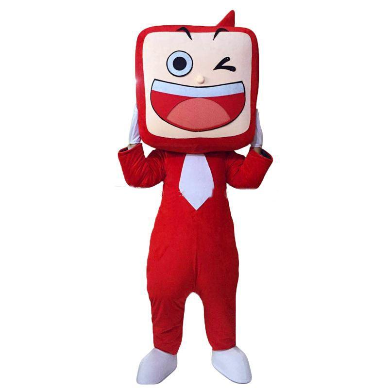 2018 yüksek kalite sıcak tv seti maskot kostümleri çizgi film karakteri yetişkin sz