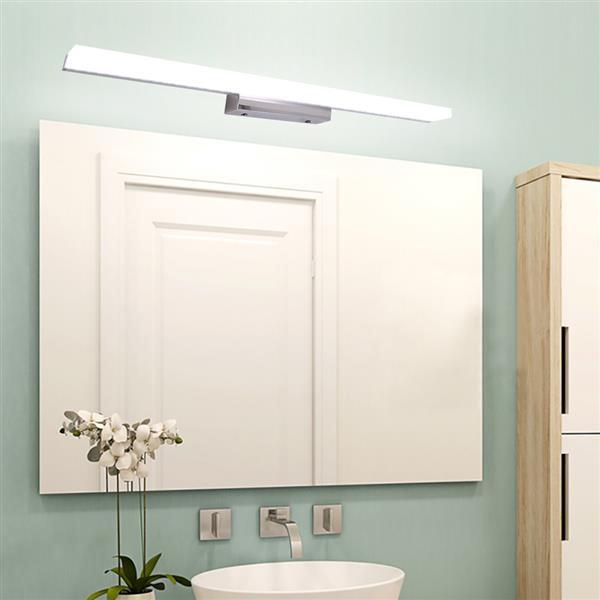 14W 100см Новая и интеллектуальная лампа ванной комнаты Световой бар Серебристый белый свет Высокая яркости огни высшего класса Материал крытого освещения