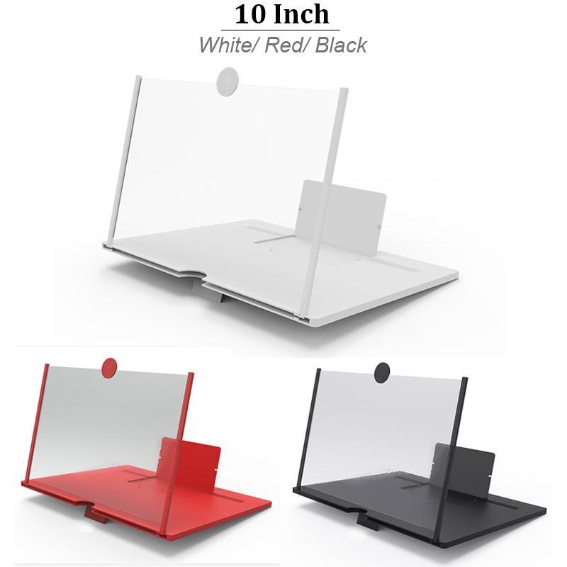 10 inç taşınabilir Cep Telefonu Ekran Büyüteç 3D Video Gözler Koruma Katlama Ekran Ekran Amplifikatör Genişletici