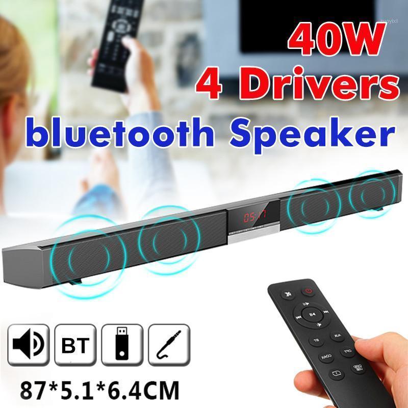 40W اللاسلكية بلوتوث المتكلم 3d تحيط الصوت تأثير الصوت ستيريو الصدرية المسرح المنزلي TV SoundBar التحكم عن بعد مضخم الصوت 1