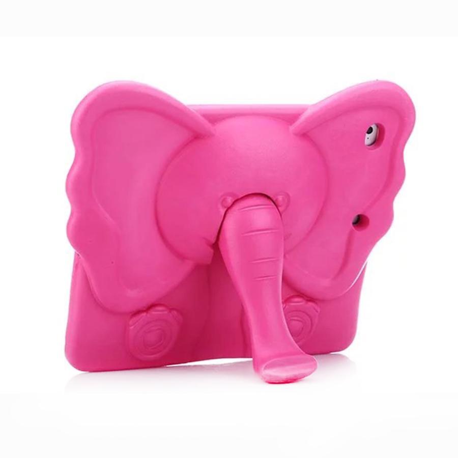 Couverture d'étui de protection éléphant mignon mousse Eva pour iPad Air Mini Pro avec support de poignée arrière
