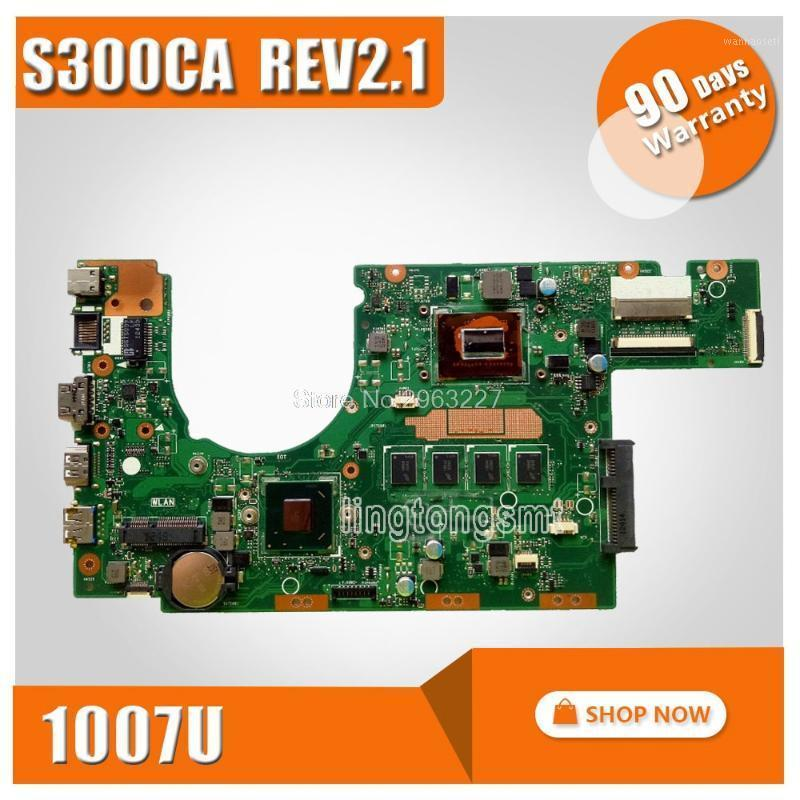 S300CA For Asus Laptop motherboard S300CA mainboard REV2.1with 1007 cpu onboard 100% tested1